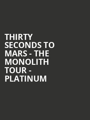 Thirty Seconds To Mars - The Monolith Tour - Platinum at O2 Arena