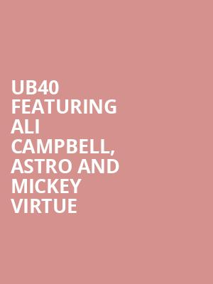 UB40 featuring Ali Campbell, Astro and Mickey Virtue at O2 Arena