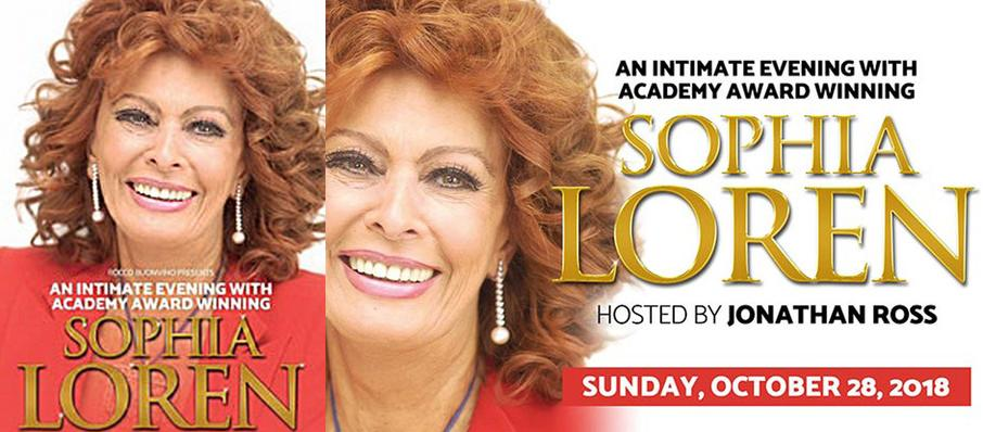 An Evening with Sophia Loren, Aldwych Theatre, London